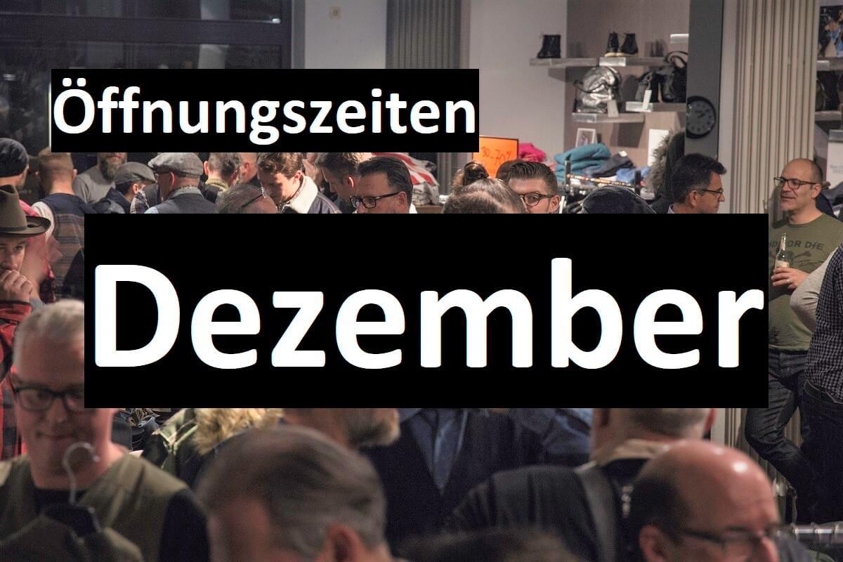 Geänderte Öffnungszeiten im Dezember bei Bremerich Jeans